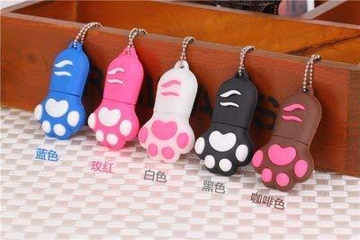 USBフラッシュドライブ 128GB 猫の爪 USB 2.0 USBメモリーフラッシュ USBスティック メモリースティック (黒)