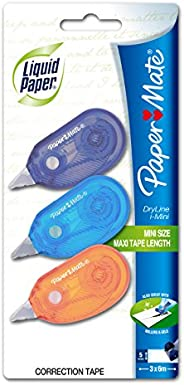 Liquid Paper Dry Line I-Mini Correction Tape 3-pack