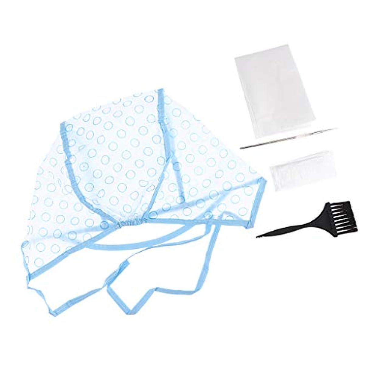 保証するホイップ中央値ヘアダイブラシ ヘアダイキャップ クリップ 手袋 毛染め用品セット ヘア染めツール 全5点