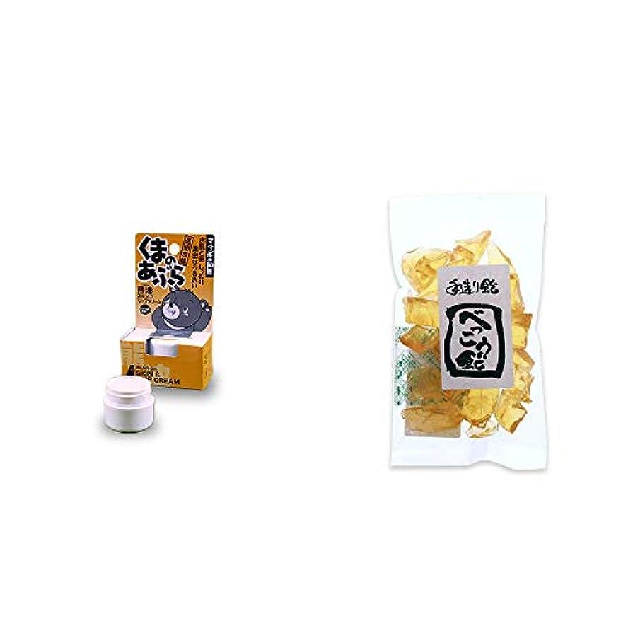 中性摂氏度ナイトスポット[2点セット] 信州木曽 くまのあぶら 熊油スキン&リップクリーム(9g)?べっこう飴(160g)
