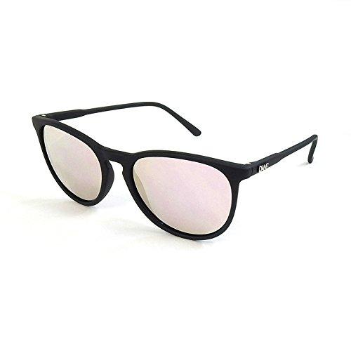 ダン シェイディーズ (DANGSHADES) FENTON BLACK SOFT × ROSE MIRROR POLARIZED (偏光レンズ) スケートボー...