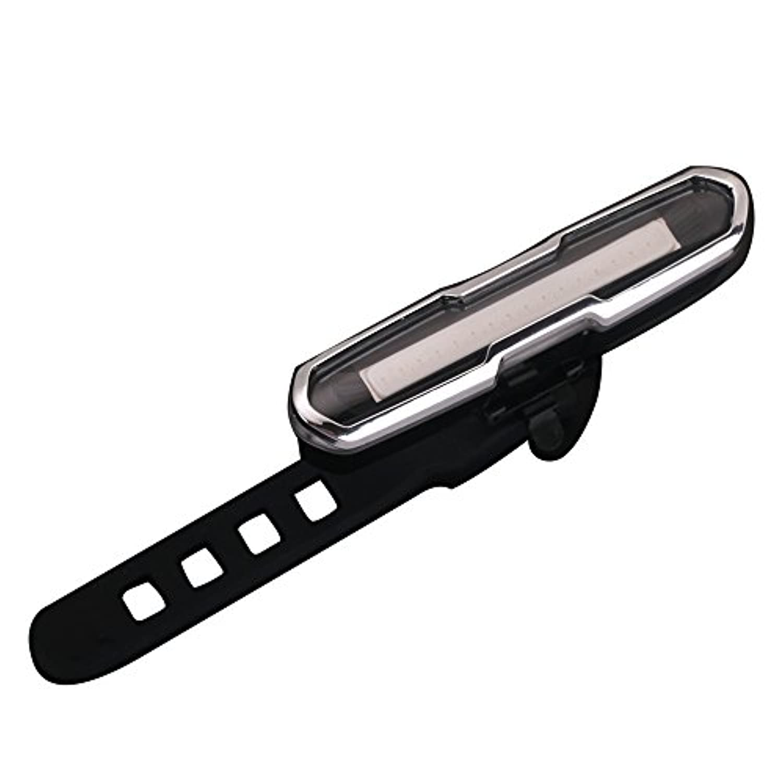 VINSOO 5つのモードデュアルカラー赤/青USB充電式スーパーブライトCOB LED自転車バイクサイクリングリアテールライトランプ+ USBケーブル+ブラケット