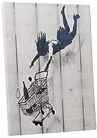 Pingo World 0422O9FHJ5A Banksy Shop Till You Drop Gallery Wrapped Canvas Print 30 x 20 [並行輸入品]