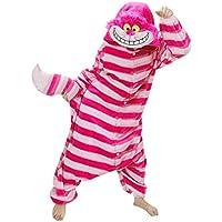 Onesie World Unisex Animal Pyjamas Cosplay Cheshire CAT Adult Onesie Nightwear Halloween Carnival Novelty