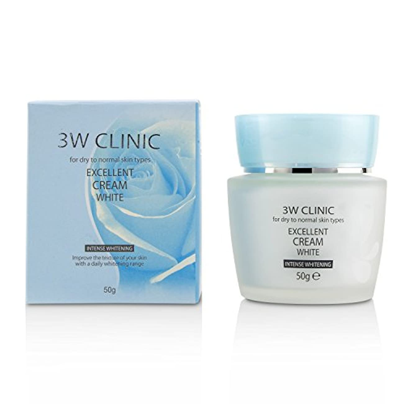 タイト慈善裸3Wクリニック Excellent White Cream (Intensive Whitening) - For Dry to Normal Skin Types 50g/1.7oz並行輸入品