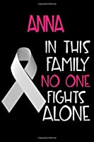 ANNA In This Family No One Fights Alone: Personalized Name Notebook/Journal Gift For Women Fighting Lung Cancer. Cancer Survivor / Fighter Gift for the Warrior in your life | Writing Poetry, Diary, Gratitude, Daily or Dream Journal.