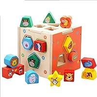 YYWJトリッキーなおもちゃ子供のおもちゃ子供のブロックパズル教育ビルディングブロックジオメトリ木製のマッチングブロック製品サイズ:5.6インチ* 5.6インチ* 5.6インチは、機嫌を保ちます