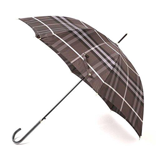 傘 カバー付き チェック柄 ゴールドディテール 60サイズ 全長91cm 親骨60cm バーバリー 71847 BURBERRY グレー メンズ