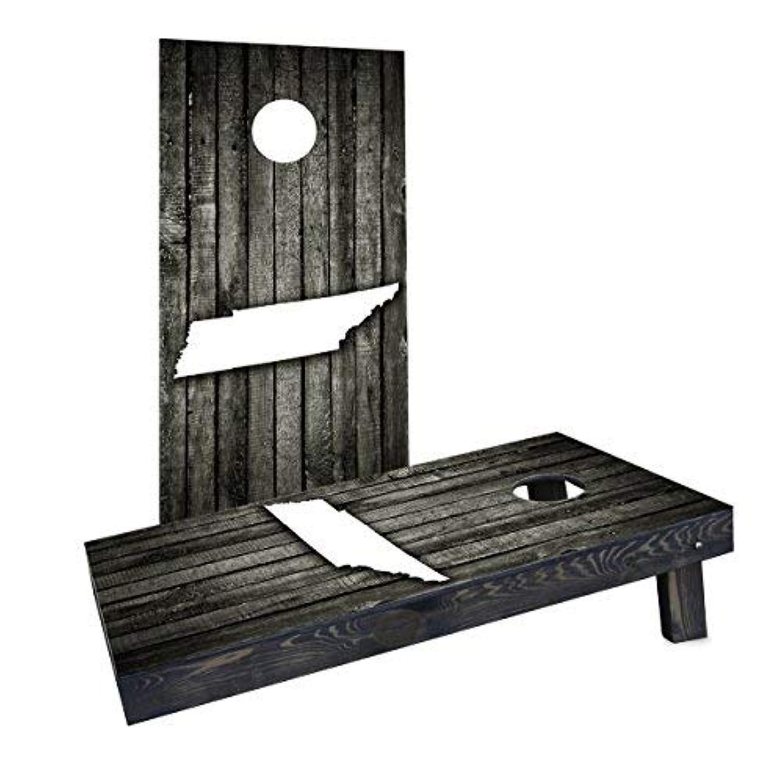 Custom Cornhole Boards Incorporated CCB835-AW Wood Slat Tennessee Theme Cornhole Boards [並行輸入品]