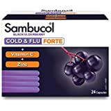 Sambucol Cold and Flu Forte 24 Capsules, 24 count, Pack of 24