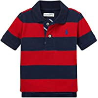 Ralph Lauren Polo Baby Boy's Striped Cotton Mesh Short Sleeve Polo Shirt
