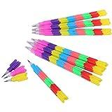 [ルボナリエ] ロケット 鉛筆 おもしろ えんぴつ 景品 かわいい キャップ 文房具 セット hb 子供 会 (48本)