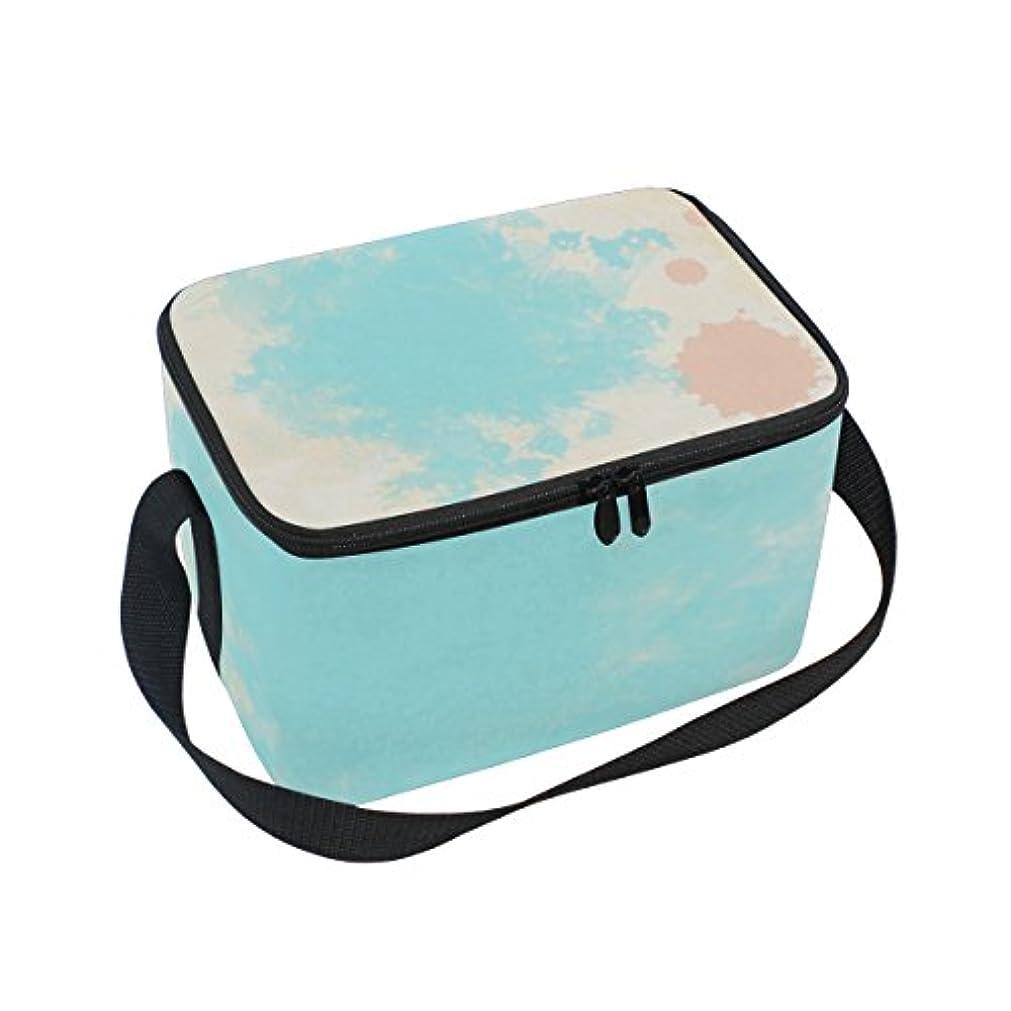 無意識入口予言するクーラーバッグ クーラーボックス ソフトクーラ 冷蔵ボックス キャンプ用品  水彩インク 個性的 保冷保温 大容量 肩掛け お花見 アウトドア