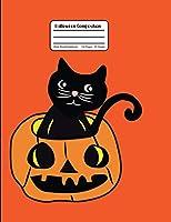 Halloween Composition: Orange Wide Ruled Notebook