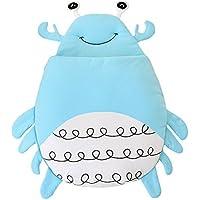 Tortor 1bacha(JP) 可愛い 蟹 ベビー 赤ちゃん 寝袋 ソフト コットン シュラフ 寝具 新生児 柔らかい 布団 動物 お出かけ 出産祝い 誕生日 プレゼント ブルー