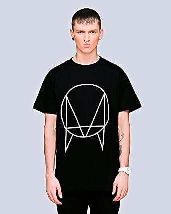 LONG CLOTHING x OWSLA ロングクロージング x アウスラOWSLA T-SHIRT - BLACK ルーズフィット Tシャツ ブラック (S)