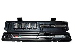 EMERSON(エマーソン) レンチセット トルク対応レンジ:28~210N・m [ 14 17 19 24mmソケット・21mm薄口ロングソケット・エクステンション付属 ] EM-29