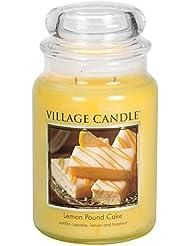 Village Candle Large Fragranced Candle Jar?つ - 17cm x 10cm - 26oz (1219g)- Lemon Pound Cake - upto 170 hours burn...