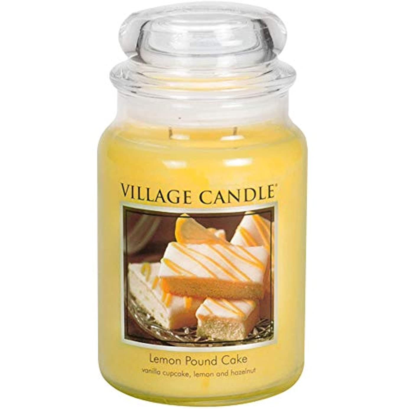 Village Candle Large Fragranced Candle Jar?つ - 17cm x 10cm - 26oz (1219g)- Lemon Pound Cake - upto 170 hours burn...