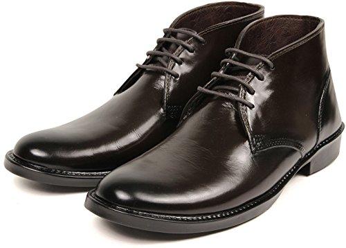 422160f7c58377 [セレブル] チャッカブーツ 防水 レインシューズ メンズ ビジネス 人気 おしゃれ 長靴 ブラウン L