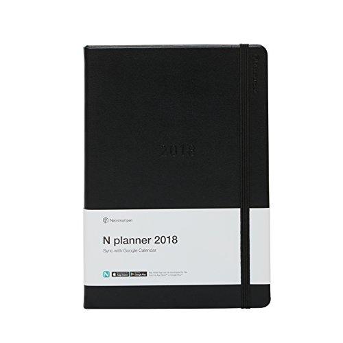 [해외]정품 Neo smartpen N 플래너 디지털 수첩 2018 Sync with Google 캘린더 하드 커버 블랙/Genuine Neo smartpen N Planner Digital Diary 2018 Sync with Google Calendar Hardcover Black