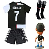 19 20#7 Cristiano Ronaldo Soccer Jersey CR7 Kids Youth Football Shirt Dolls for Free