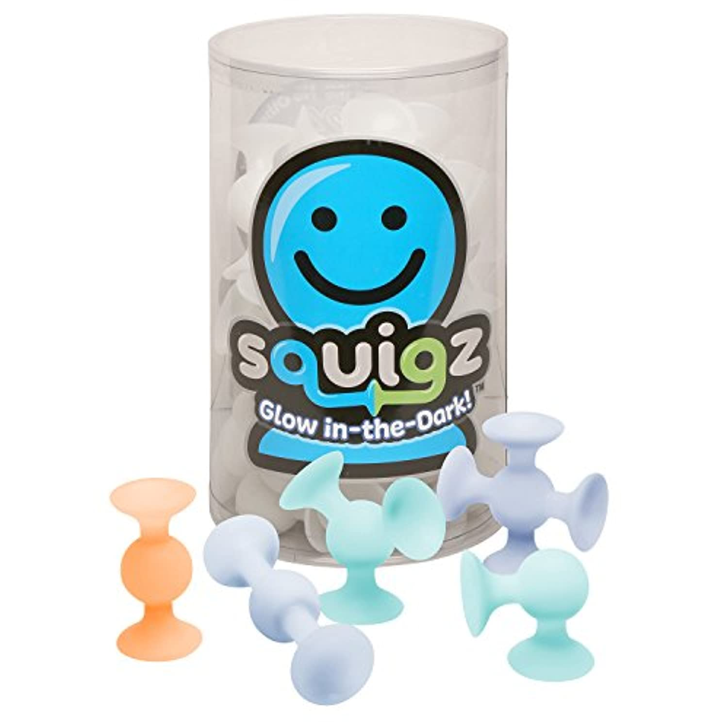 Squigz glow-in-the-dark Squigz吸引Building Toy – 24ピースセット