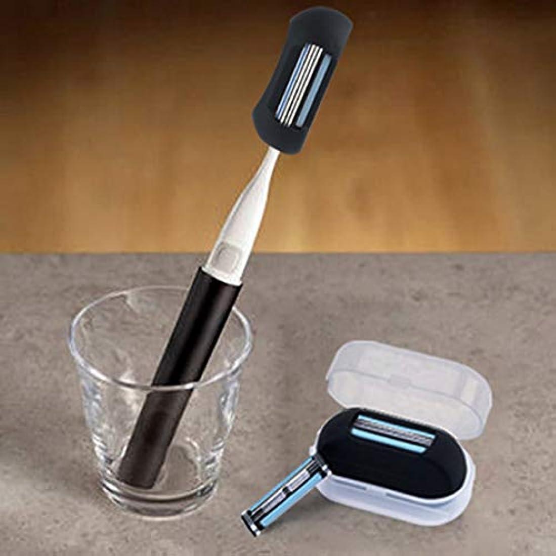 シャベル縁より良いPortable 2 In 1 Finger Shaver Razor Men Razor Silicone Mini Toothbrush Cap Blades Manual Shaving Razor