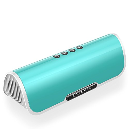 ワイヤレス Bluetooth スピーカー EWANTIC S6 ポータブル ステレオ ブルートゥーススピーカー 12W デュアルドライバー / 増厚リゾネーター 強化された低音 / Bluetooth 4.2 / AUXオーディオケーブル 有線再生 / micro SDカード再生 / マイク内蔵
