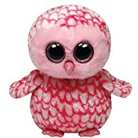 Ty Beanie Boos Buddies Pinky Pink Barn Owl Medium Plush [並行輸入品]