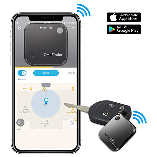 GLCON キーファインダー 忘れ物防止 タグ 鍵・スマートフォン・財布などの紛失防止タグ (一個) … (ブラック)