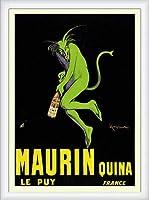 ポスター レオネット カピエッロ Maurin Quina le Puy 額装品 ウッドハイグレードフレーム(ホワイト)