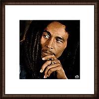 ポスター フォトグラフ ボブ マーリー/Bob Marley Legend 額装品 ウッドハイグレードフレーム(オーク)