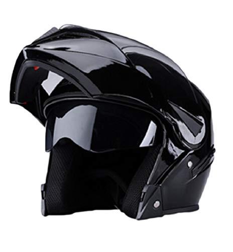 GOHAN(ゴハン) ジェットヘルメット フルフェース バイクヘルメット 超人気 透明シールド ダブルシールド バイク用 原付き 半帽 ハーフ UVカット加工 防曇 耐久性 耐衝撃性 吸汗 通気 オールシーズン セーフティヘルメット メンズ レディース 男女兼用 スポーツ&アウトドア 商標登録認証 (54-60cm グロスブラック)