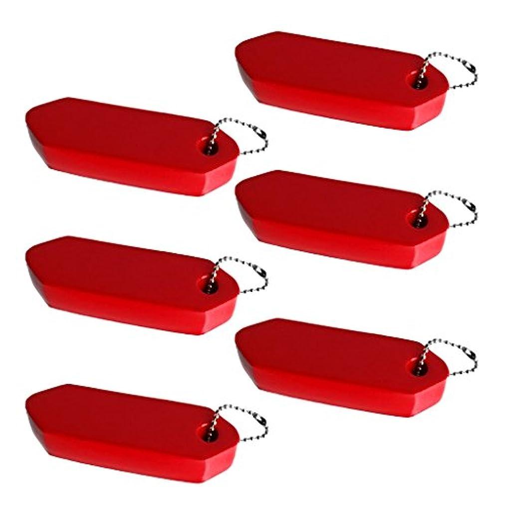 請求書大陸ストラトフォードオンエイボンSM SunniMix 6個 高視認性 フローティング キーホルダー ボート マリン セイリング キーフロートフォブ フローティングキーチェーン