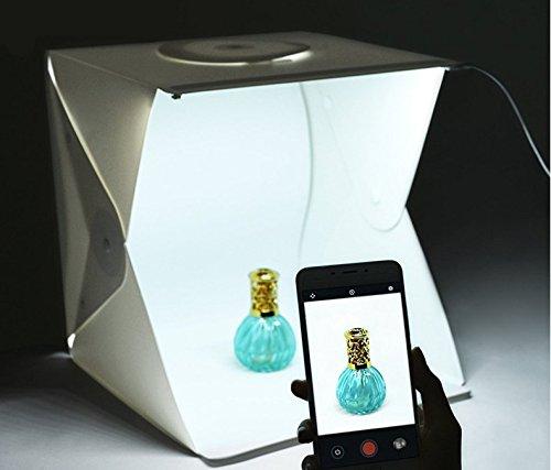 WALKTOROCK 撮影ボックス LEDライト搭載 中型 40*40*40cm 撮影用照明 折り畳み 携帯型 写真 照明 ライト...