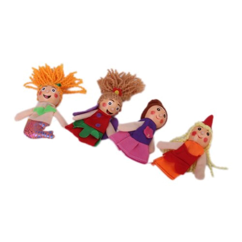 4pcsセット 指人形セット フィンガーパペット マーメイド 家族みんなで指人形 子供大好き