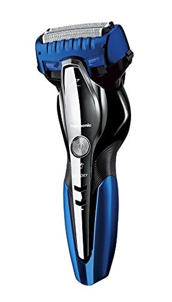 線形適度なランダムパナソニック ラムダッシュ メンズシェーバー 3枚刃 お風呂剃り可 青 ES-ST6P-A
