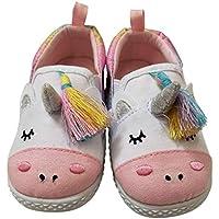 Wonder Nation Unicorn White Rainbow Sneakers Shoes Girls Toddlers