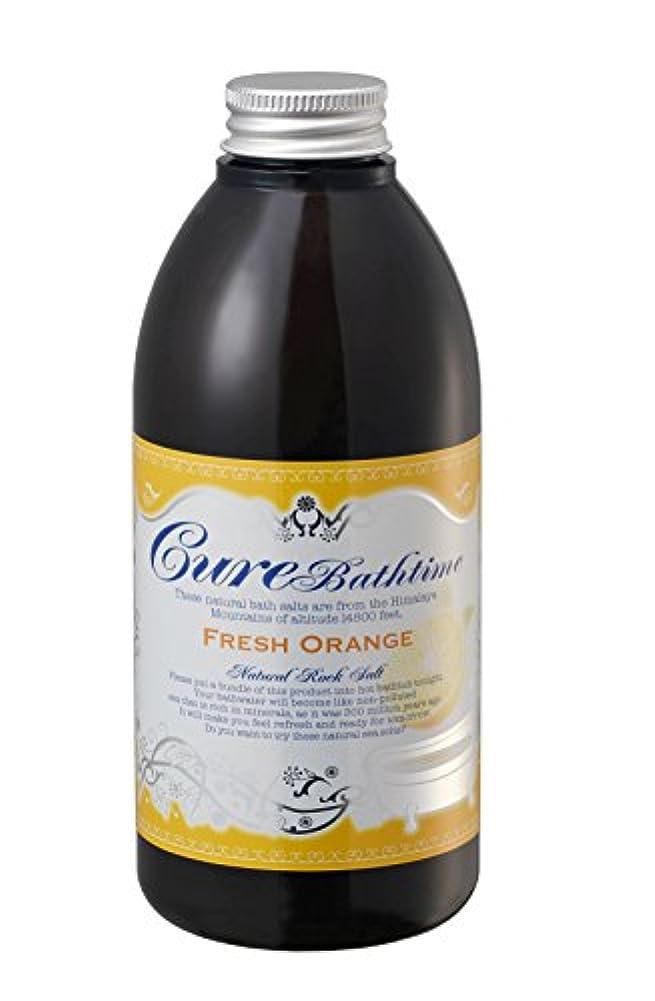酒協力する抗生物質Cure(キュア) ヒマラヤ岩塩バスソルト Cureバスタイム フレッシュオレンジの香り500g 入浴剤 500g