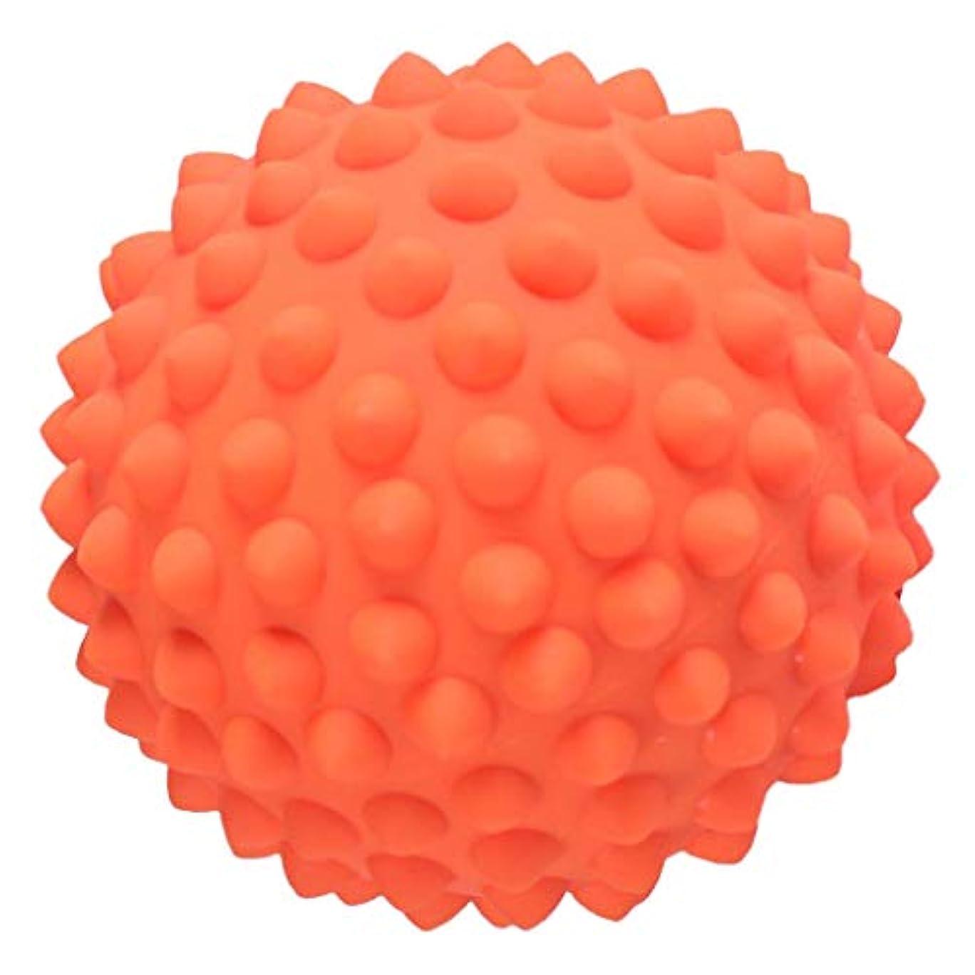 祭司ファンネルウェブスパイダー溝Perfeclan ハードマッサージ マッサージボール ハード トリガーマッサージ ポインマッサージ 3色選べ - オレンジ, 説明のとおり