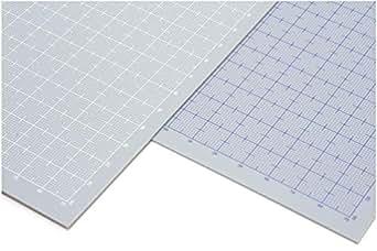 ウェーブ プラ=プレート 【目盛付:ブルー】 B5 グレー 1.0mm
