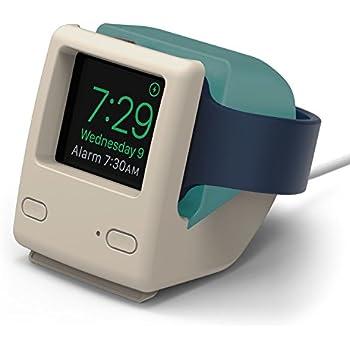 【elago】 Apple Watch 充電 スタンド シリコン 充電ドック アクセサリー ノスタルジック レトロデザイン [ AppleWatch Series5 Series4 40mm / 44mm & Series3 Series2 series1 38mm / 42mm アップルウォッチ 対応 ] W4 STAND アクアブルー