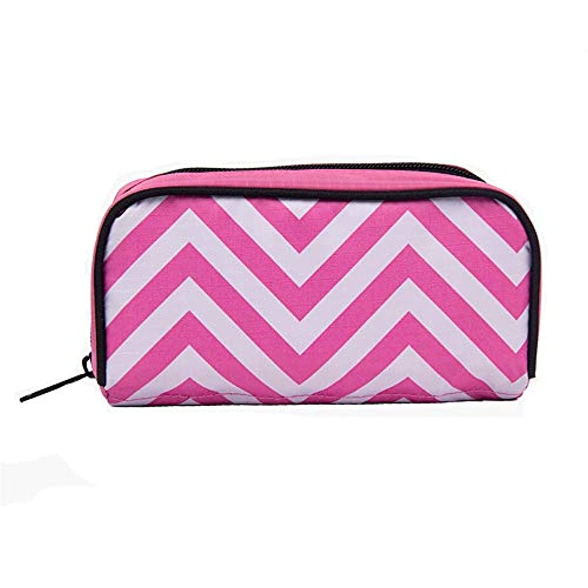 再開お風呂を持っている欠かせないアロマセラピー収納ボックス ローラーボトルホルスター用オイル高度な保護10本のボトルに完璧な旅行の外部ストレージ統合袋を保護するために、 エッセンシャルオイル収納ボックス (色 : ピンク, サイズ : 17X8.5X6CM)