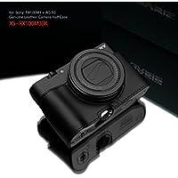 GARIZ SONY DSC-RX100M3/M4/M5用 本革カメラケース Gun Shot Ring付 XS-CHRX100M3BK ブラック
