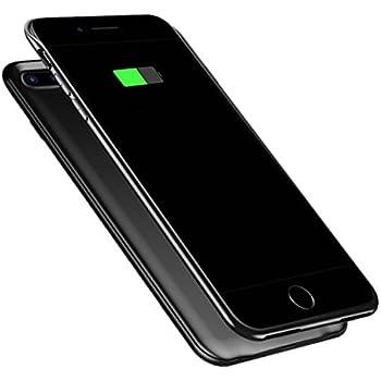 1fee213c46 ケース型バッテリー 急速充電 大容量 バッテリーケース 軽量 超薄 スリム バッテリー内蔵ケース 車載ホルダー対応  iPhone7Plus/iPhone8Plus 専用 スマホケース ...
