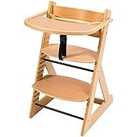 笑顔のダイニングベビーチェアー【マジカルチェアー(テーブル付き)】安心強度の三角形ベース プレミアム木製椅子 (ナチュラル色) テーブル付きナチュラル 2:テーブル付きチェアー