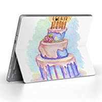 Surface go 専用スキンシール サーフェス go ノートブック ノートパソコン カバー ケース フィルム ステッカー アクセサリー 保護 バースデー パーティー 水彩 009698