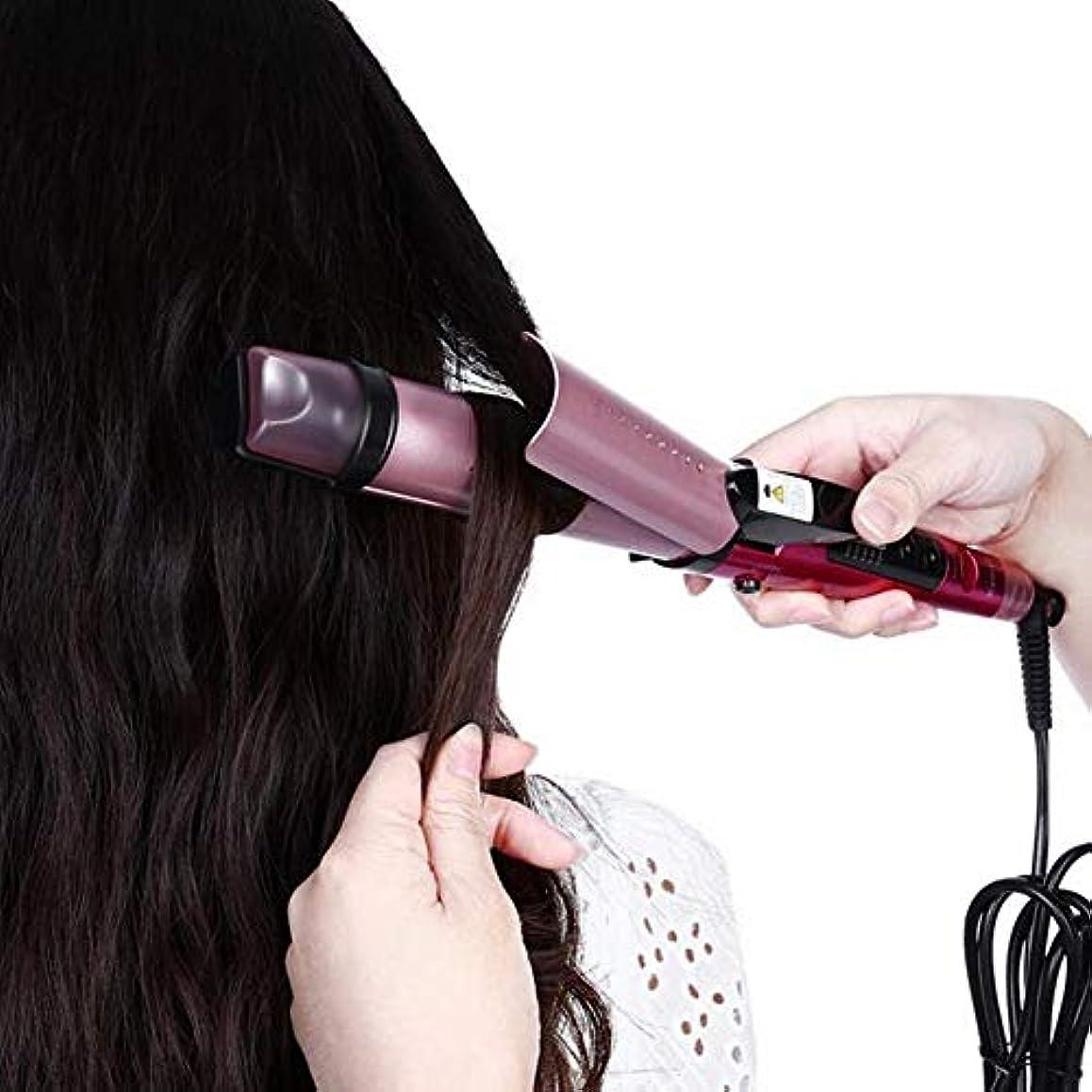 メトロポリタン到着同封するスチームストレートヘアコームマイナスイオンカーリングロッドストレートデュアルユース電動コイルロッドで髪を傷つけません(カラー:ローズレッド)