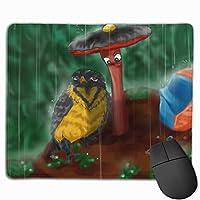 雨 梟 キノコ マウスパッド 滑り止め マウス用パット ゲーミング 耐久性 約(25cm X 30cm) マウス パッド